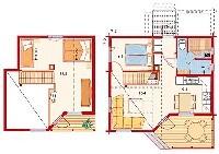 План коттеджа Pinea 86