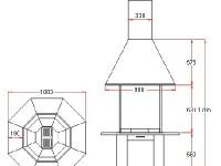 Размеры грильной установки